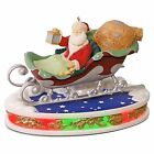 Santa Takes Flight 2016 Hallmark Table Top Light Sound 6th Once Upon a Christmas