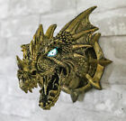 8 Tall Dragon Dungeon Wall Plaque With LED Eyes Figurine Fantasy Collectible