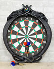 Double Dragons Wall Mount Dart Board Game with Darts Wall Sculpture 24.5
