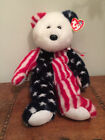 NEW  Ty Beanie Baby Bears Spangle White Face / slight wear to tag