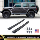 Running Board For 2018+ Jeep Wrangler Unlimited JL 4 Door OE Nerf Rail Guard
