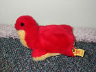 Vtg Steiff Mini Cosy Red Turtle with Tag and Button 5593 14 Western Germany