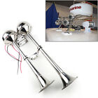 12V Marine Electric Double Horn Trumpet For Boat Yacht Stainless Steel Superb