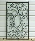Stunning Handcrafted All Clear stained glass Beveled window panel 205 x 345