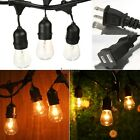 48 Foot Vintage Patio String Lights Clear E26 Bulbs Indoor Outdoor Lighting FPAW