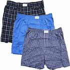 Tommy Hilfiger Mens Small 28-30, 3-Pack Woven Boxer, Blue Multi