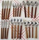 A Sensual Mid Century Modern Design Dansk Toke 24 Piece Bamboo & Stainless Set