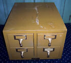 Vtg Gaylord Bros. 4 Drawer Maple Wood Library Index Card Catalog File Cabinet