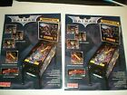 2 ORIGINAL STERN BATMAN PINBALL MACHINE BROCHURE  FLYERS