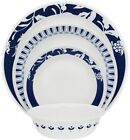 Corelle Boutique Uptowne Blue Mavi 16-Piece Dinnerware Set Service for 4 NEW