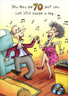 Shake A Leg 70th Funny Birthday Card Greeting Card by Oatmeal Studios