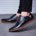 Mens oxfords leather Shoes Dress Formal Pointed Toe Casual British style Comfort