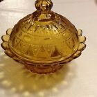 Kemple Wheaton LACE DEWDROP HONEY AMBER COVERED SERVING BOWL Berry Dish