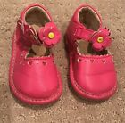 Girls Pink Mary Janes Flowers Hearts SQUEAK SQUEAKER SHOES Toddler Size 4