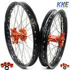 21/18 ENDURO WHEEL SET FIT KTM EXC EXC-R 125 250 350 530CC 2003-2019 ORANGE HUB