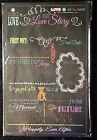 17in Marriage Memories Our Love Story Chalkboard Wedding Anniversary Valentine