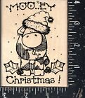 Hooks Lines  Inkers Wood Mounted Rubber Stamp Mooey