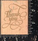 Rubber Stampede Wood Mounted Rubber Thank You