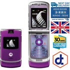 Refurbished Motorola RAZR V3 Unlocked flip Mobile Phone Boxed Red Pink Gold