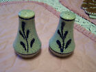 Blue and Gray Stoneware Salt and Pepper Shaker Set