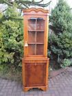 High Quality Antique Style Yew Wood Corner Cabinet Cupboard Hutch