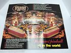 FIRE Williams 1987 Pinball Poster NOS ORIGINAL ARCADE GAME CLASSIC