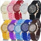 Geneva Silicone Mens Quartz Watches Women Girl Jelly Gel Fashion Sp