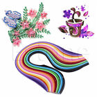 24 Colors 260 Stripe Quilling Paper 5 10mm Width Mixed Color For DIY Craft USA