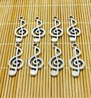 Free Shipping Tibetan Silver musical note 20 pcs beads Charms Pendant 9x24mm