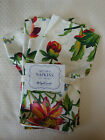 New April Cornell 100% Cotton 4 Napkins Ivory with Multi-Color Floral Print