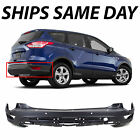 New Textured Black Rear Bumper Cover Replacement For 2013 2016 Ford Escape