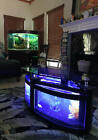 oval shape coffee table aquarium, with everything needed