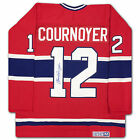 Yvan Cournoyer Autographed Red Montreal Canadiens Jersey - AUTOGRAPH AUTHENTIC