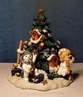 Fitz and Floyd Holiday Musicals The Flurries Tree & Snowmen Music Box