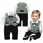 Baby Boys Wedding Tuxedo Formal Dressy Party Suit One Piece Outfit Clothes 0 18M