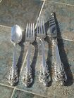 WALLACE 4 PC GRANDE BAROQUE PLACE SETTING FREE SHIP GRAND STERLING SILVER CLEAN