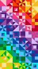 COLORWORKS NORTHCOTT FABRIC PANEL TRIANGLES SQUARES RAINBOW CHEATER CLOTH 20800
