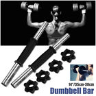 14 Inch Chrome Dumbbell Bar Solid Steel Weight Lifting 4 Vinyl Spinlock Collar