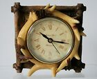 Deer ANTLER CLOCK Resin NEW in Box