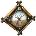 Large Deer Antler Clock Home Cabin Decor Wall Mount