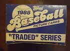 1988 Topps Traded Baseball Complete Box 132 Card set! Mark Grace RC Alomar RC!