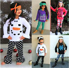 Casual Toddler Baby Kids Girls Hooded Holiday Festival Clothes Outfits Set