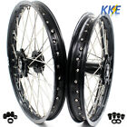 21/19 MX WHEEL RIM SET FIT SUZUKI WHEEL RM125 RM250 1999-2008 BLACK HUB