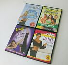 lot of 4 exercise DVDs crunch pilates+biggest loser power+the firm dance+cardio