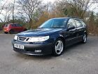 LARGER PHOTOS: 2001 SAAB 9-5 SE AUTO BLUE excellent condition serviced and mot WITH PRIVATE REG