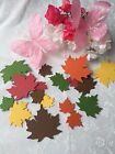25 100 LEAVES PAPER CUT OUTS EMBELLISHMENTS Mixed of Fall Colors