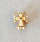 Vintage Sigma Chi 10K Seed Pearls Fraternity Pin Badge
