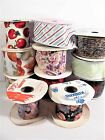 11 PIECE LOT FABRIC RIBBON SOME WIRED CRAFTING GIFTS FLORAL