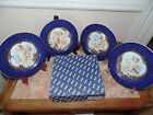 Fitz and Floyd Les Anges Cherub Cabinet Plates Set of Four # 2