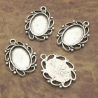 4pcs Tibetan Silver beautiful picture frame charm pendants X0017
